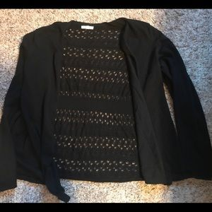 Maurice's Size 3 Black Long Sleeve Cardigan